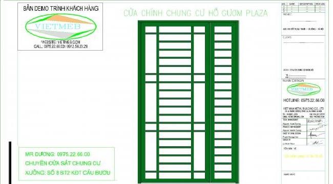Thiết kế cửa sắt chung cư theo yêu cầu | Theo tùy chỉnh