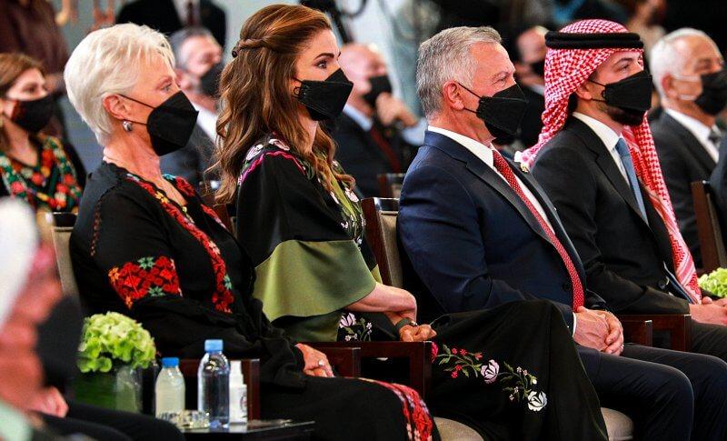 King Abdullah, Queen Rania, Crown Prince Hussein, Princess Salma, Prince Hashem, Princess Muna