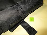 Klettband: GHB Automatic Regenschirm Taschenschirm mit 96 cm Durchmesser Schwarz