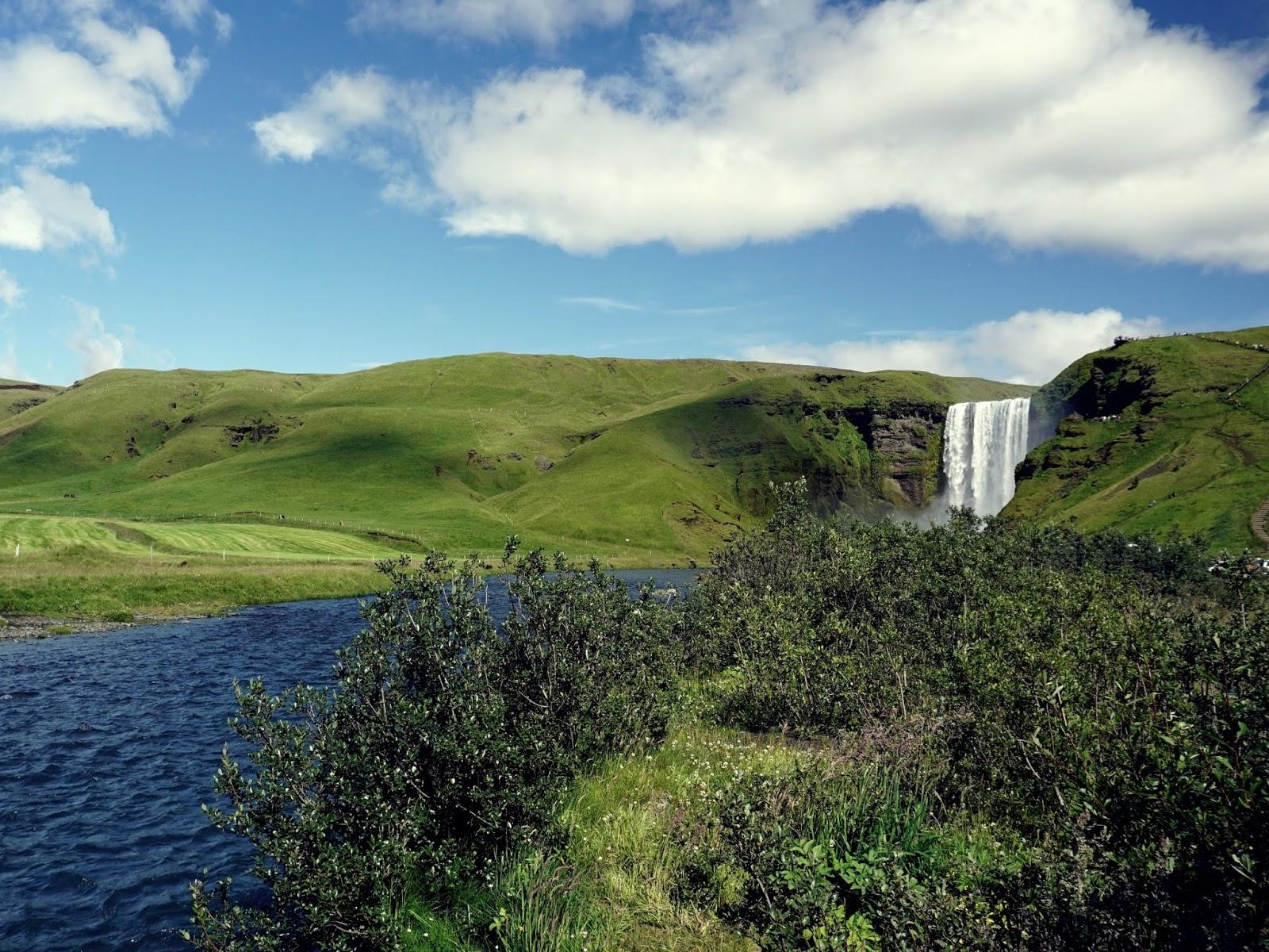 wodospad Skógar, islandzki wodospad, Islandia