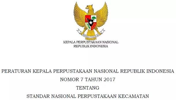 Standar Nasional Perpustakaan Kecamatan
