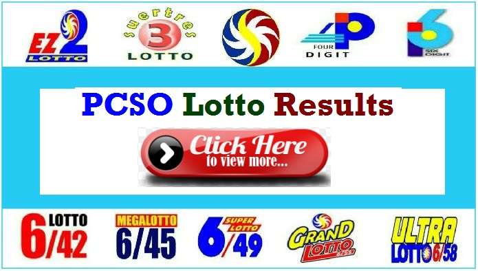 PCSO Lotto Result January 15, 2020