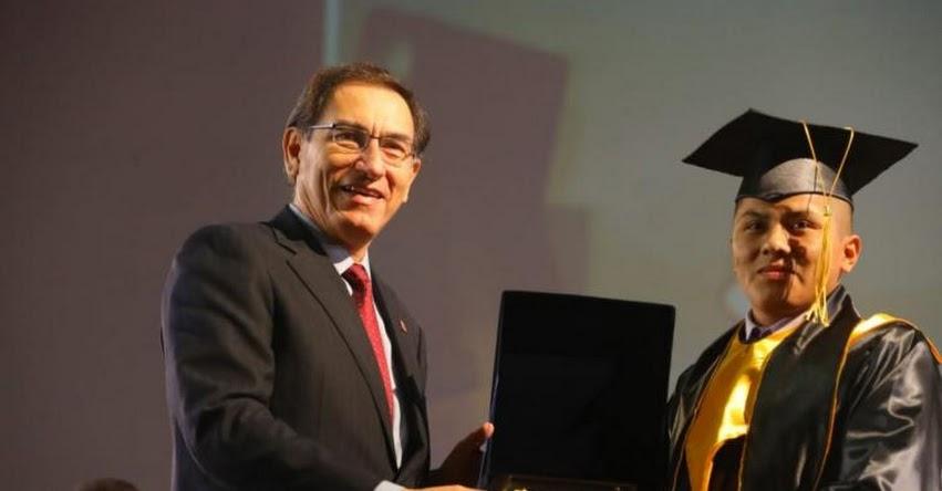 Presidente Vizcarra destaca importancia de educación técnica en aumento de la producción