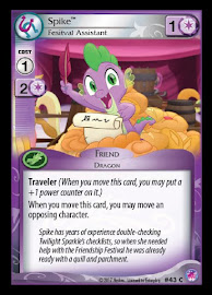 My Little Pony Spike, Festival Assistant Seaquestria and Beyond CCG Card