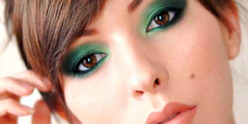 como maquillar los ojos marrones verdosos