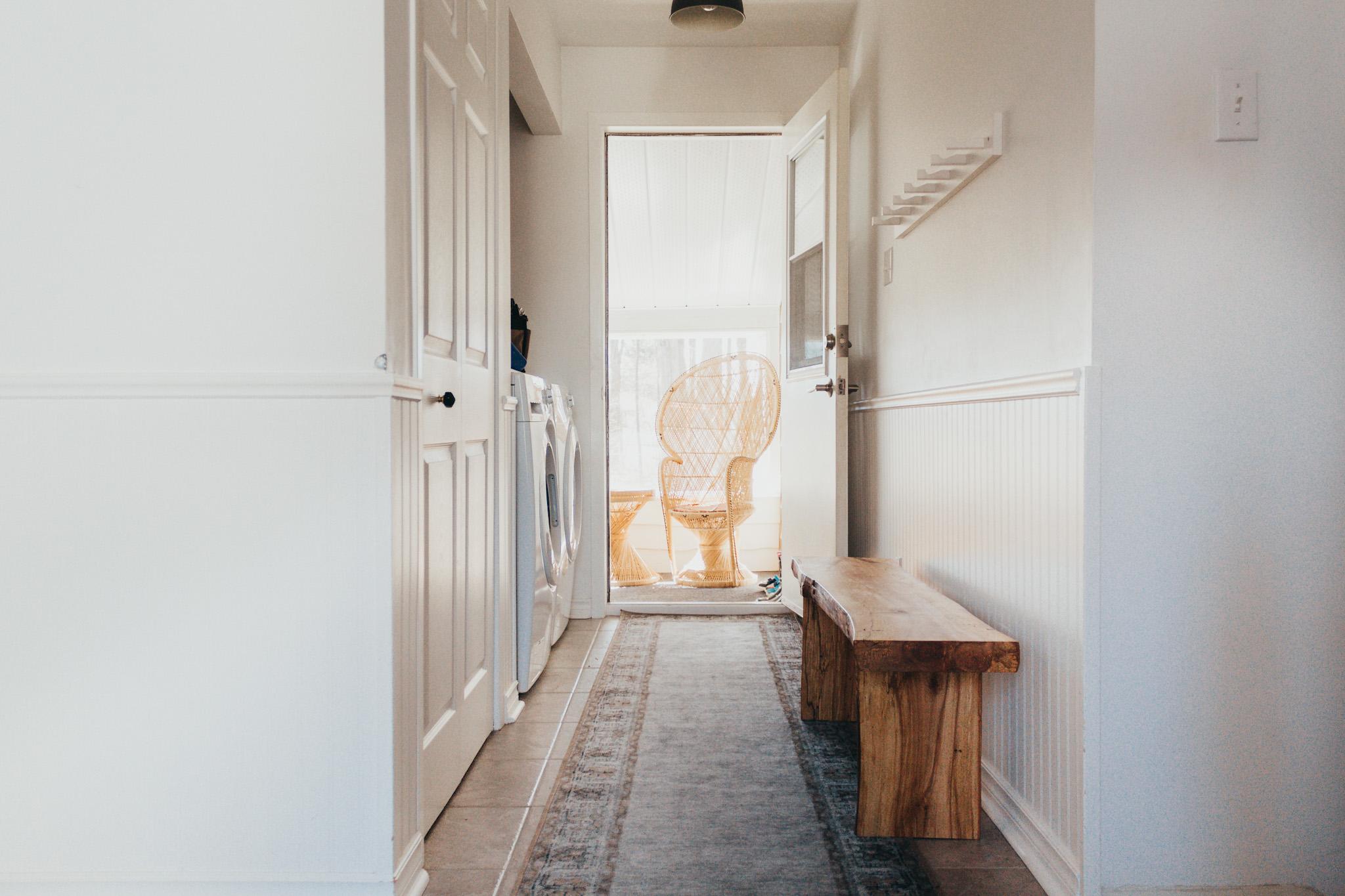 White Entryway Design