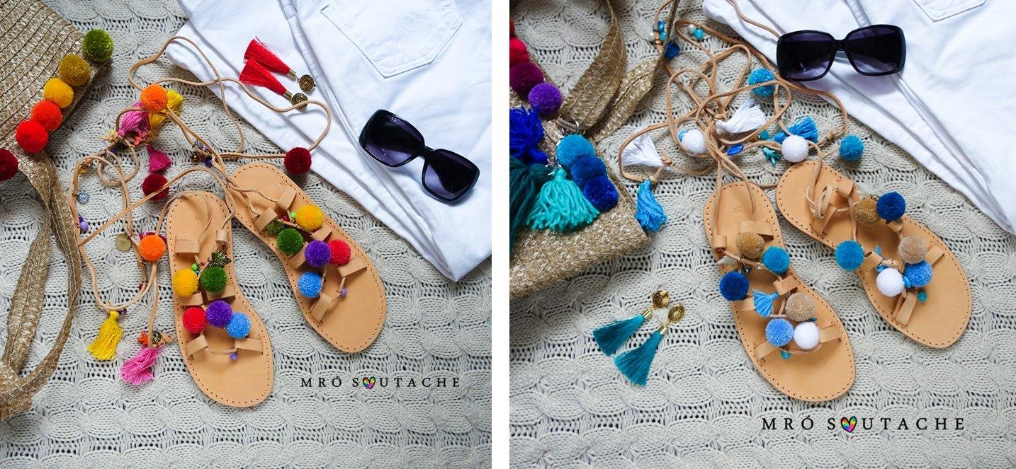 zdj 4 mró soutache jak zrobić biżuterię techniką soutache kolczyki biżuteria na wesele ślub pompony tęczowa kolorowa polska firma wyrób biżuterii ręczna biżuteria handmade sandały z pomponami wywiad pomysł biznes