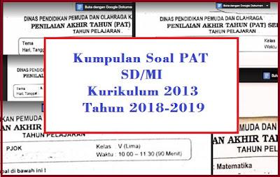 Soal PAT Kelas 1 Semester 2 Kurikulum 2013 dan Kunci Jawabannya Tahun 2018/2019