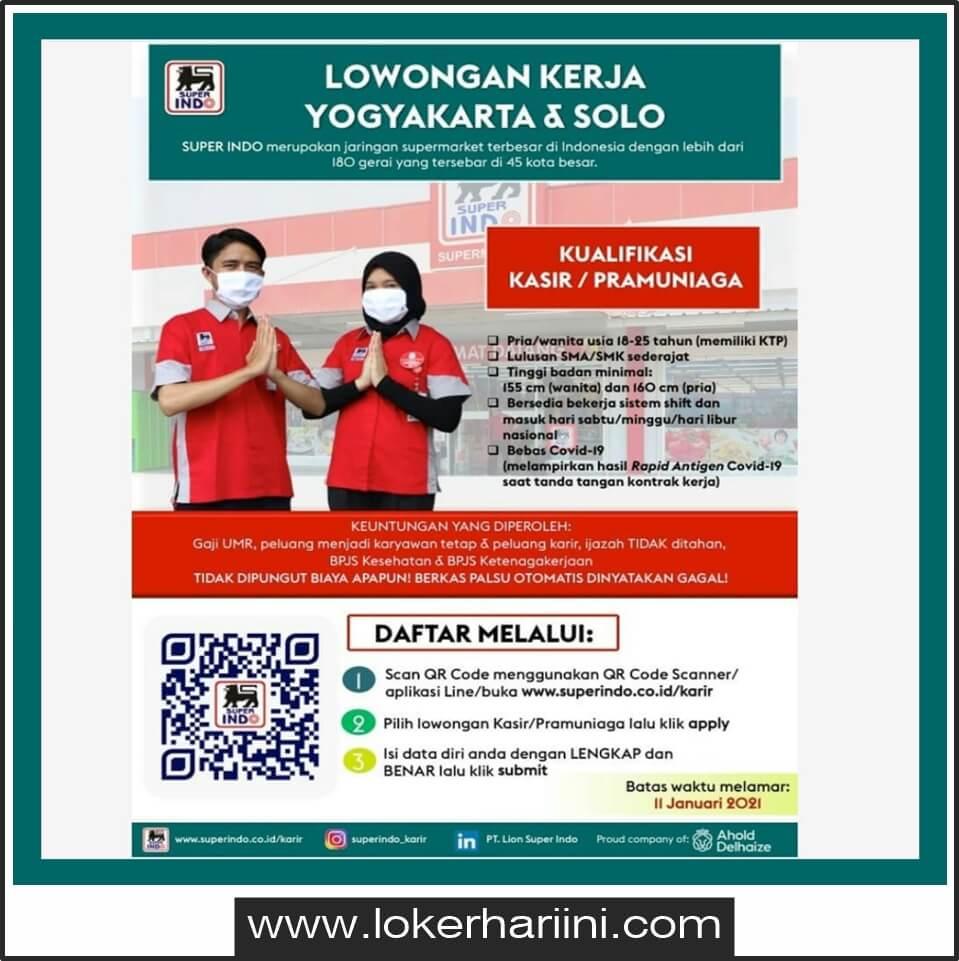 Lowongan Kasir Pramuniaga Pt Lion Super Indo Yogyakarta 2021