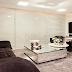 Sala de tv com layout diferenciado - ótima ideia para salas grandes e médias!