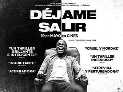 Poster Original de Déjame Salir, la ópera prima de Jordan Peele y un excelente thriller psicológico.