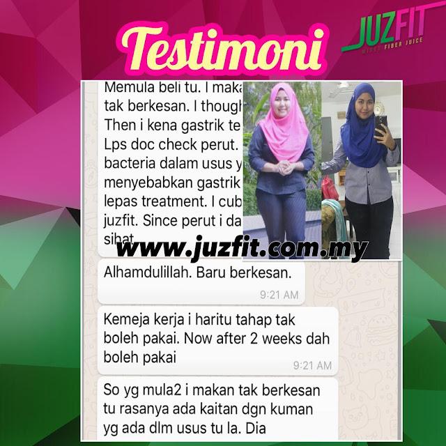 Testimoni JuzFit Mixed Fiber Juice