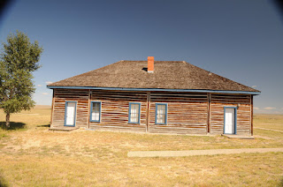 Fort Fetterman - back of museum/ officer's duplex