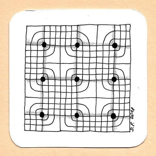 Zentangle monotangle