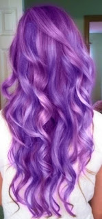 purple beach waves hairstyle