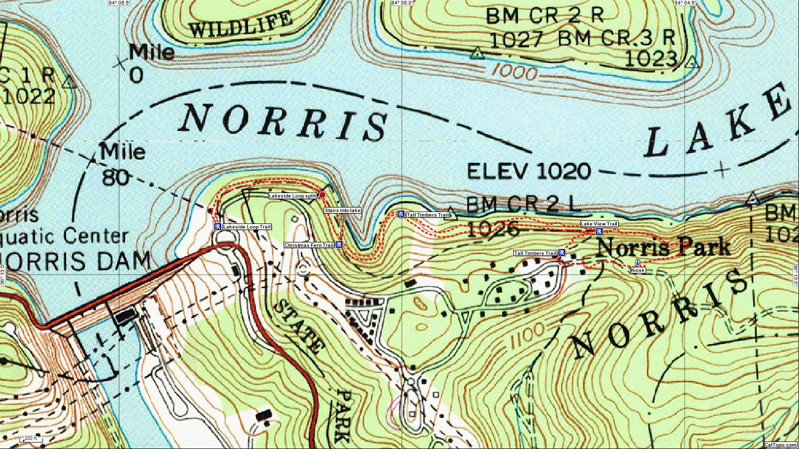American Travel Journal East Area Hiking Norris Dam State Park