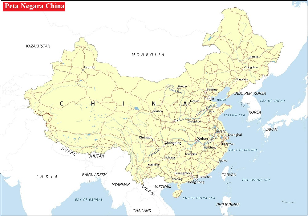 Peta Negara China