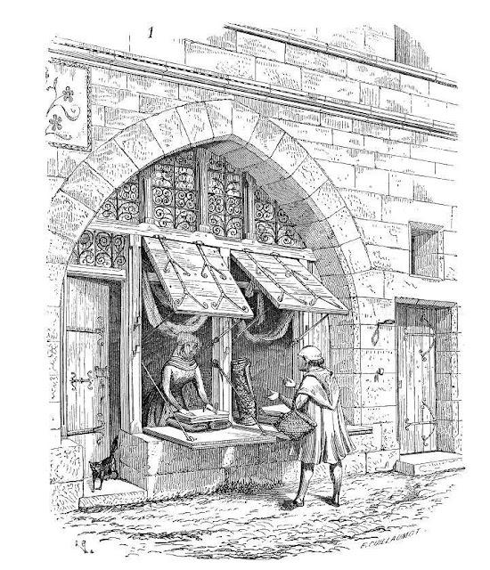 Loja medieval: o artesão vendia diretamente sua produção