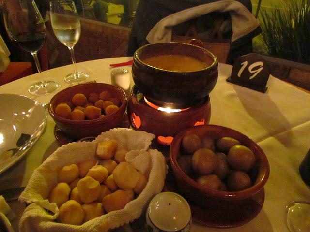 Fondue de queijo em Gramado/RS