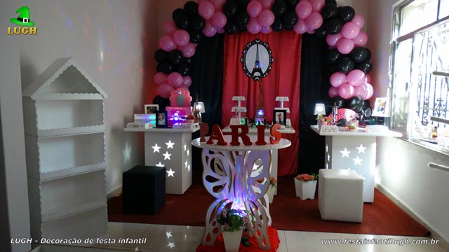 Decoração de aniversário Paris para festa de meninas - Provençal