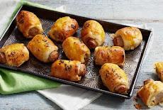 لفائف السوسيس بعجينة puff pastry | سهلة وسريعة