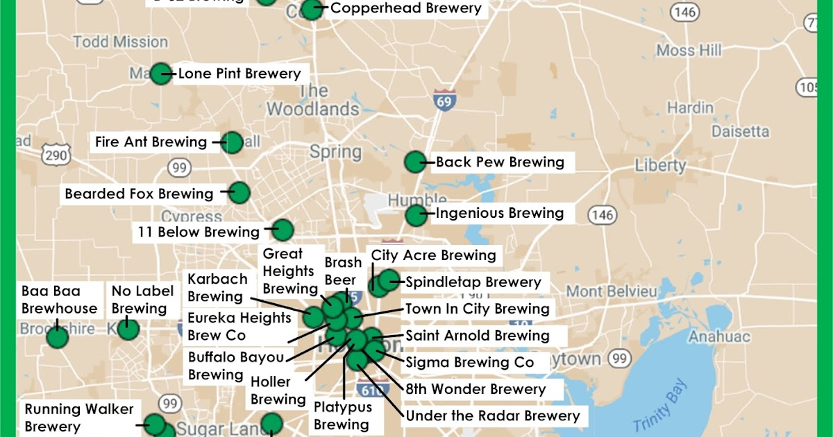 Clear Lake Wine Tasting Beer Infographic Map Of HoustonArea - Missouri breweries map
