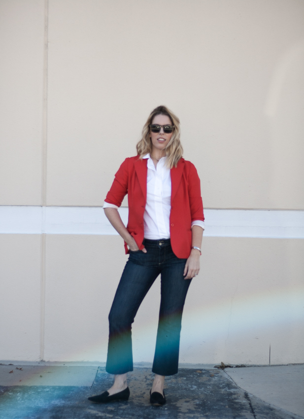 Cropped Flares and Blazer