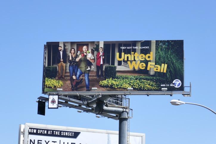 United We Fall sitcom billboard