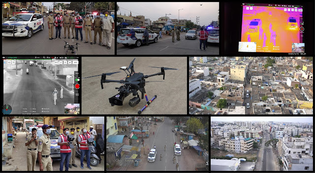 Cyient Provides Drone-Based Surveillance Technology to support Cyberabad Police in implementing #COVID19 Lockdown