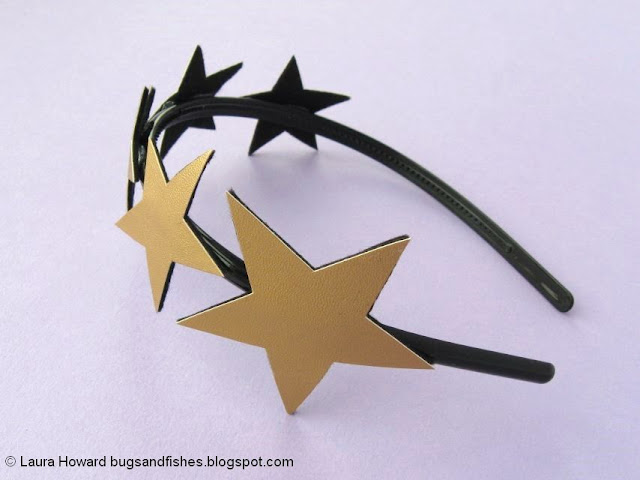 vegan leather star headband tutorial