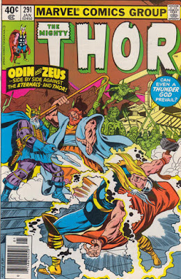 Thor #291, Asgard and Olympus vs the Eternals