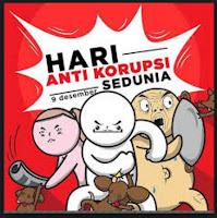 Hari Anti Korupsi Sedunia, Mobil Plat Merah Ditempel Stiker