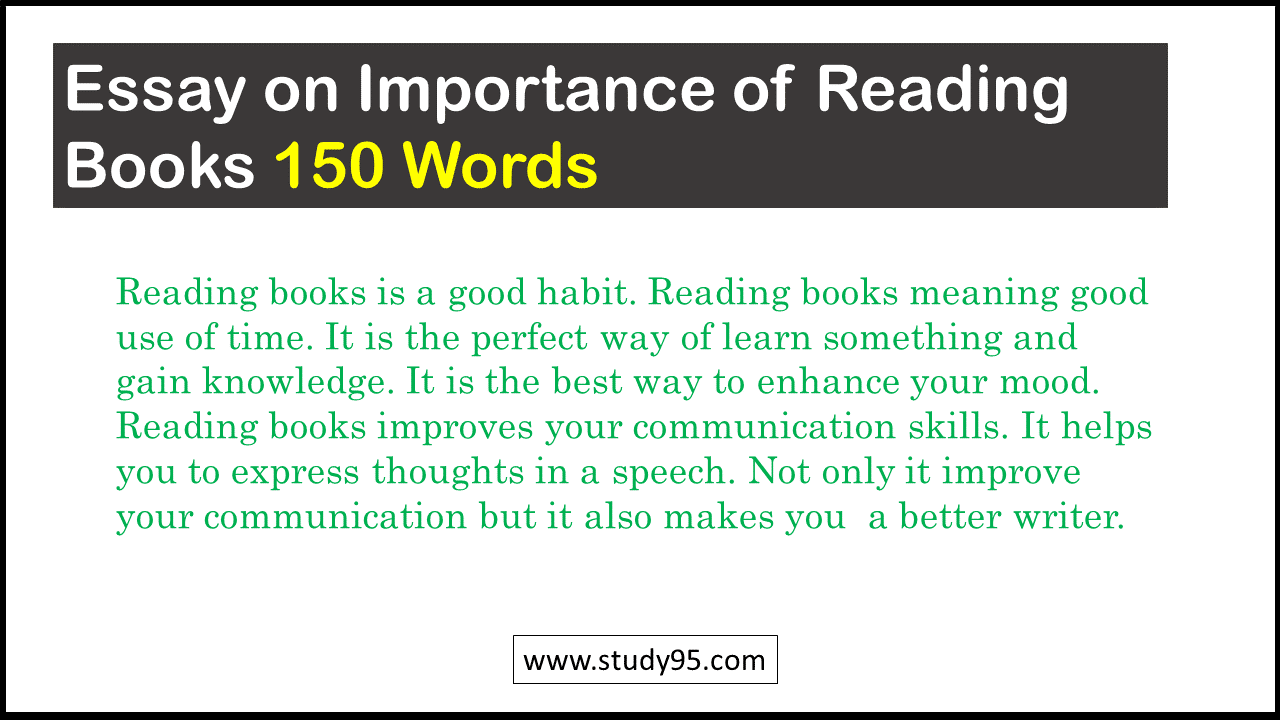 Essay on Importance of Reading Books