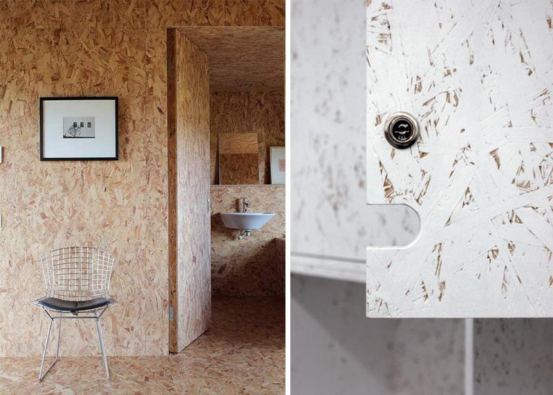 Dal massello ai pannelli, il legno grezzo è tra i top trend 2017 pareti in osb