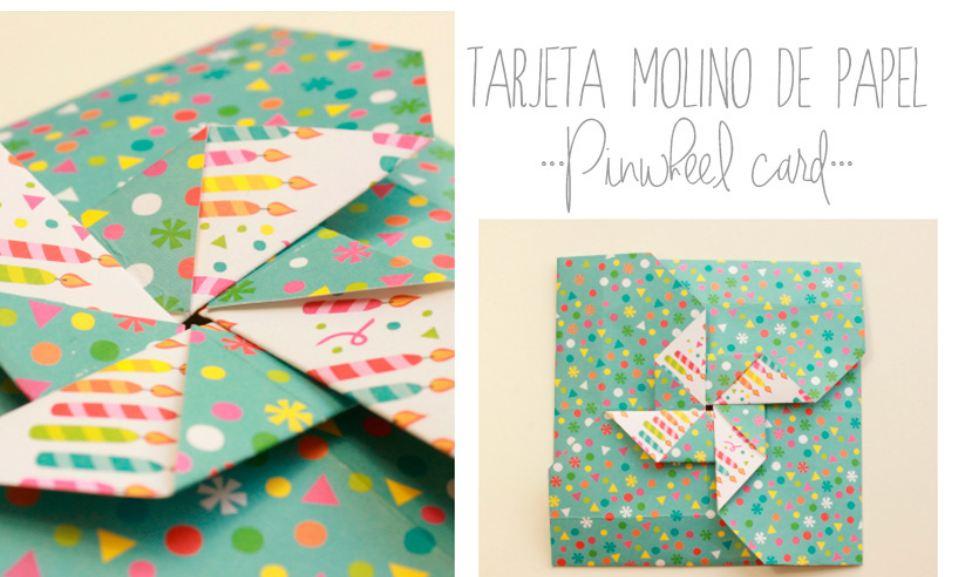 Cmo hacer tarjeta con forma de molinillo de papel Iserns Gallery