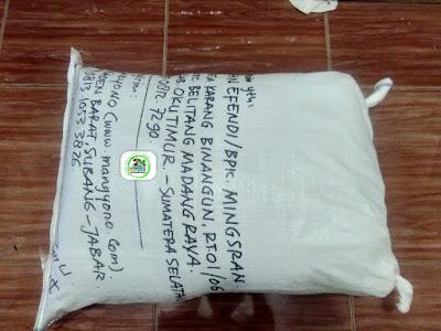 Benih padi yang dibeli   AFAN EFENDI OKU Timur, Sumsel.  (Setelah packing karung ).
