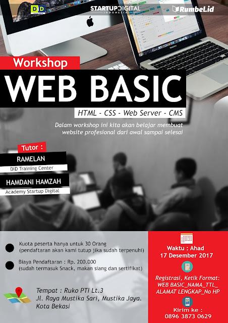 Rumbel.Id Bekasi Mengadakan Workshop Pembuatan Website dari Dasar Mengunakan Wordpress
