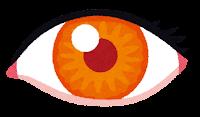 いろいろな色の目のイラスト(オレンジ)