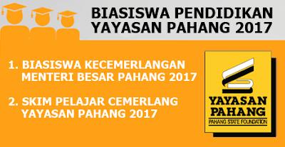 Biasiswa Pendidikan Yayasan Pahang 2017