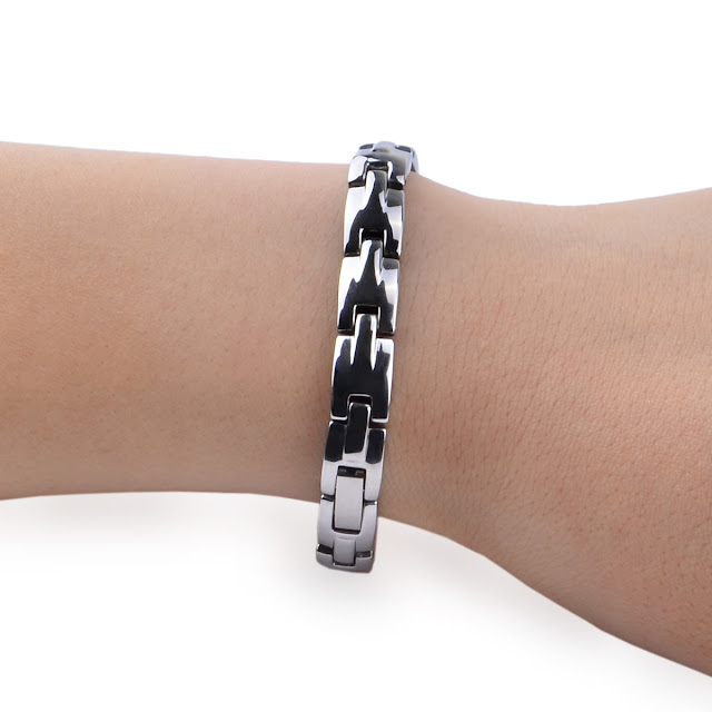 Men's Stylish Healthy Titanium Steel Silver Bracelet