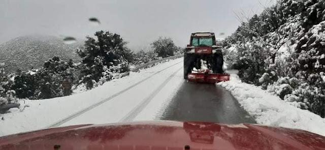 Άμεση επέμβαση του Δήμου Άργους Μυκηνών στο Κεφαλόβρυσο για το άνοιγμα του δρόμου