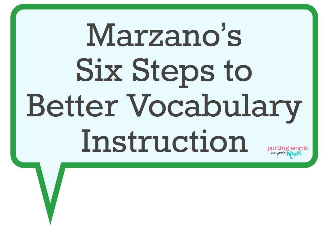 Putting Words In Your Mouth Building Your Students Vocabulary - Robert marzano lesson plan template