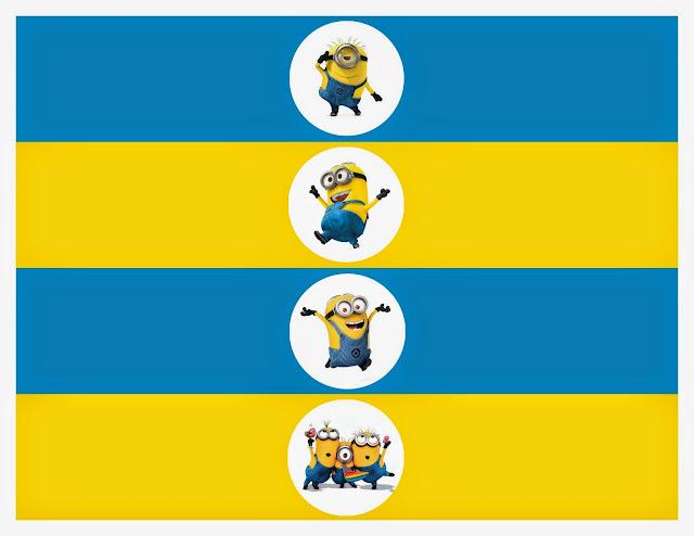 Minions: Banderines, Toppers, Etiquetas para Imprimir