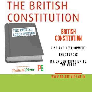 ब्रिटिश संविधान का उदय और विकास, ब्रिटिश संविधान के स्त्रोत, विश्व को प्रमुख देन
