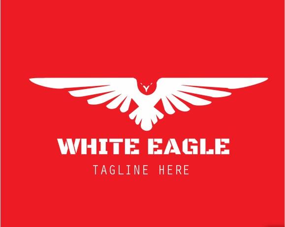 DESIGN LOGO ILUSTRATION WHITE EAGLE