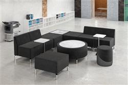 modular lounge seating with power