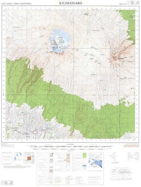 Carte du Kilimanjaro 50 000