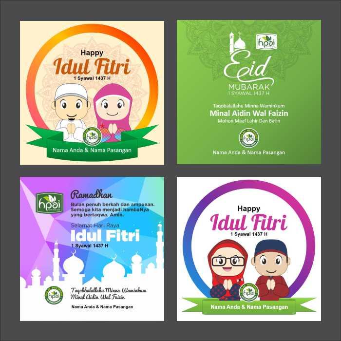 Template Ucapan Idul Fitri 2016