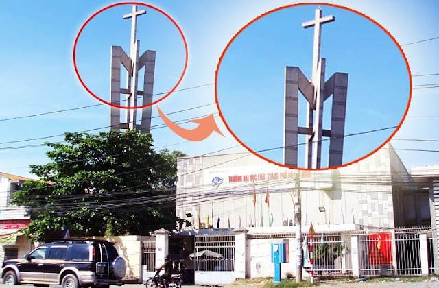 Tháp Chuông Nhà Thờ Không thể phá hủy ở ĐH Luật HCM
