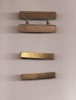 Campaign clasps belonging to John Fleming Walsh